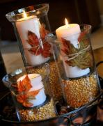 Thanksgiving Fall Decorations Hurricane Vases Amanda
