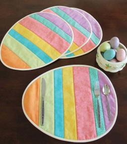These Easter Egg Placemats Easy Quilting Digest