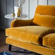 Three Seater Two Velvet Sofa Rose Grey
