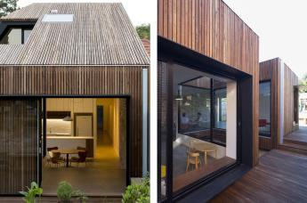 Timber Clad Cut Away Roof House Sydney Puts Modern