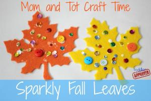 Toddler Approved Mom Tot Craft Time Sparkly Fall Leaves