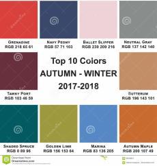 Top Colors Autumn Winte 2017 2018 Stock Illustration