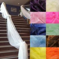 Top Table Swags Sheer Organza Fabric Diy Wedding Party