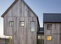 Townships Farmhouse Quebec Embraces Modernity Wrapped