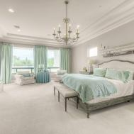 Traditional Master Bedroom Chandelier Green
