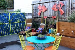 Transforming Patios Paint Colorful Accents Diy