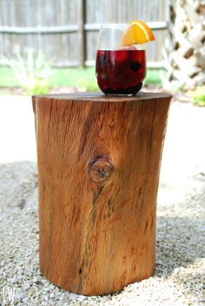 Tree Stump Tables Atelier Theater