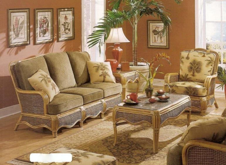 Trends Wicker Furniture Sunroom Decor Room