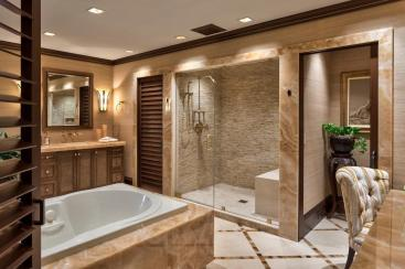 Tropical Bathroom Decor Modern Ceiling Lamp Beige Ceramic