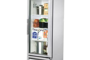 True 19g Glass Door Reach Refrigerator