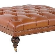 Tufted Leather Ottoman Coffee Table Design