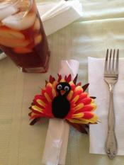Turkey Napkin Ring Holders Burlap Chiclyputwreathsandm