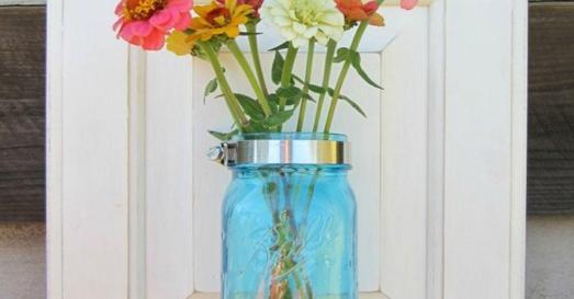 Turn Cabinet Door Into Mason Jar Wall Vase Hometalk