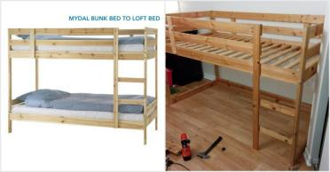 Turn Mydal Bunkbed Into Kura Loft Bed Hackers