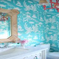 Turquoise Bathroom Decor Powder Room
