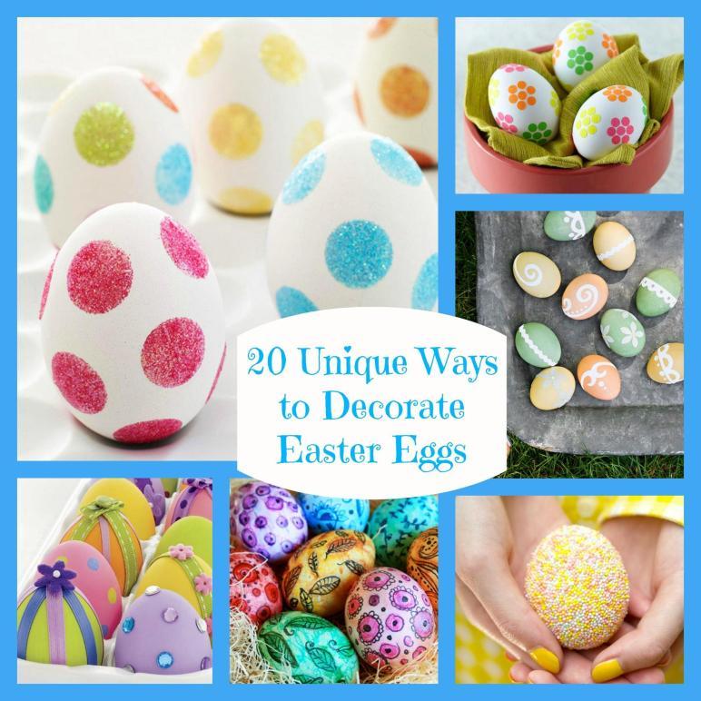 Twenty Unique Ways Decorate Easter Eggs Bullock Buzz