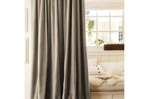 Two Pottery Barn Velvet Drapes Curtains Panels Drapery