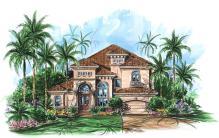 Two Story Mediterranean House Plan We 1st Floor