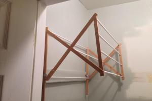 Two Yourself Diy Laundry Drying Rack Wall Mount