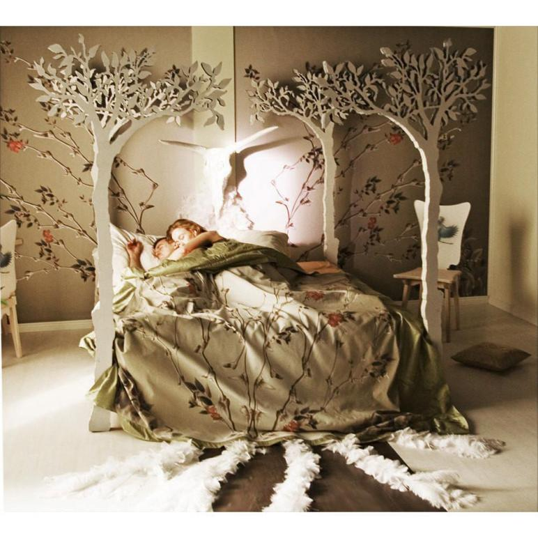 Under Apple Tree Canopy Bed Modern Romantic Scandinavian