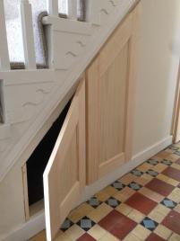 Under Stairs Storage Wood Designs