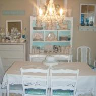 Unique Shabby Chic Dining Room Decorating Ideas Light