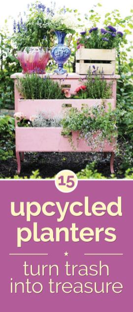 Upcycled Planters Turn Trash Into Treasure Thegoodstuff