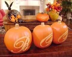 Using Pumpkin Carving Template