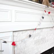 Valentine Day Mantel Diy Heart Felt Banner
