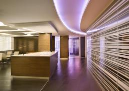 Vertical Wood Slat Ceiling Detail Office