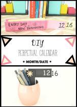 Vikalpah Diy Month Date Perpetual Calendar