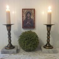 Vintage Brass Marble Candle Holders Eclectic Boho