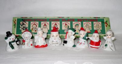Vintage Christmas Place Card Holders Figurines