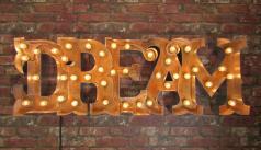 Vintage Marquee Letters Lights Beer Sign