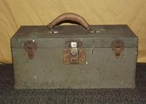 Vintage Master Metal Products Tray Leather Handle Tool
