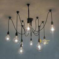 Vintage Nordic Loft Edison Bulb Chandelier Pendant Lamp