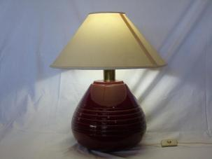 Vintage Red Ceramic Table Lamp 1960s Sale Pamono