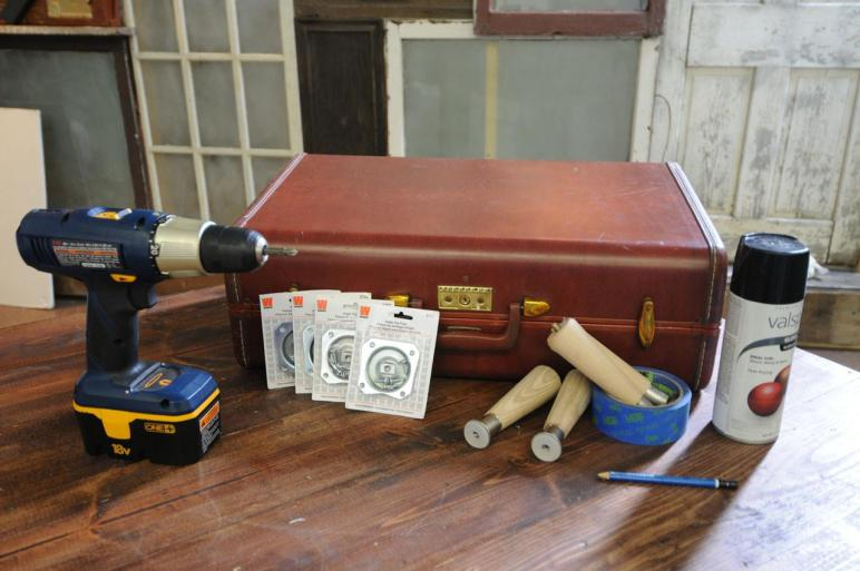 Vintage Suitcase Side Table Buildipedia