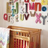 Wall Alphabet Diy Decor Ideas Baby Nursery