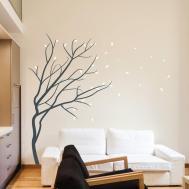 Wall Art Design Ideas Winter Season Blossom