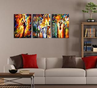Wall Art Ideas Design Colorful Abstract Three Piece