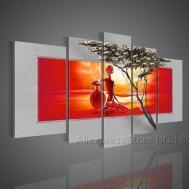 Wall Art Ideas Design Replicated Fabric Modern