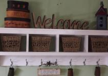 Wall Cubby Shelf Small Reclaimed Wood