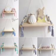 Wall Hanging Wood Swing Shelf Tassel Pendant Ornament