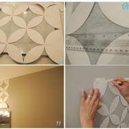 Wall Paint Design Stencils Flower Stencil Ideas