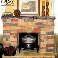 Warm Cozy Stone Fireplace Surrounds Veneer