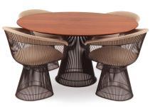 Warren Platner Knoll Bronze Dining Table Chairs 1stdibs