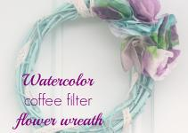 Watercolor Coffee Filter Flower Wreath Crafty Spot