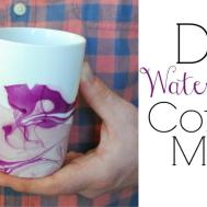 Watercolor Coffee Mugs Easy Diy Gifts