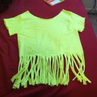 Waves Sunshine Diy Fringe Shirt